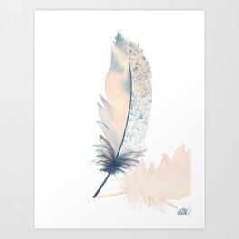 Feather Cream Art Print