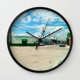 STREETART SILL LIFE - MIAMI by Jay Hops Wall Clock