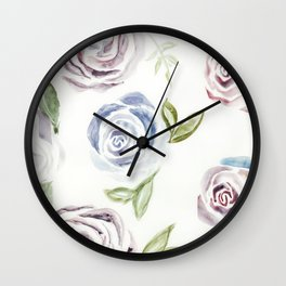 Violet Blues Rose Pattern  Wall Clock