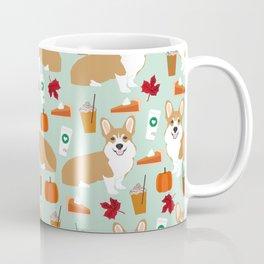 Corgi - Pumpkin Spice, psl, coffee, latte, pumpkin pie,  fall, autumn, holiday, Coffee Mug