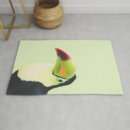 Toucan Do It! - lime Rug