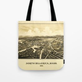 Aerial View of North Billerica, Massachusetts (1887) Tote Bag