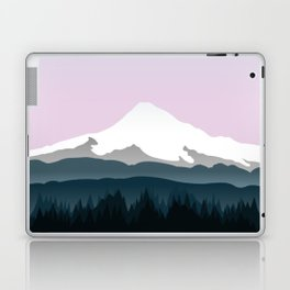Mount Hood Forest - Pink Haze Laptop & iPad Skin