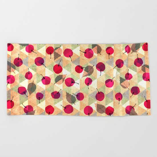 Sweet Cherries Beach Towel