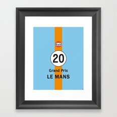 Steve McQueen - Le Mans Grand Prix variation iPhone 4 5 6, ipod, ipad case Samsung Galaxy Framed Art Print