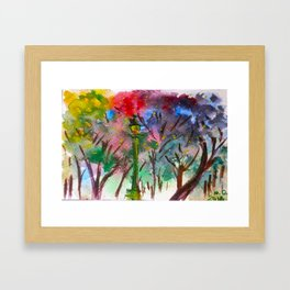 Night in the park Framed Art Print