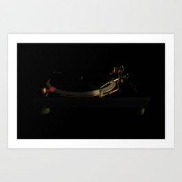 Turntable in the dark Art Print