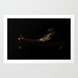 Turntable in the dark Art Print
