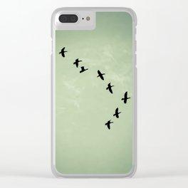 Celadon Swoop Clear iPhone Case