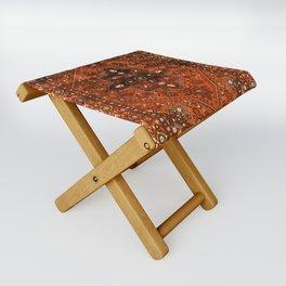 N151 - Orange Oriental Vintage Traditional Moroccan Style Artwork Folding Stool