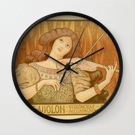 Violon lesson Wall Clock