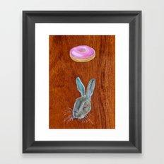 Doughnut & Rabbit Framed Art Print