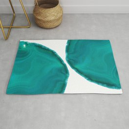 Turquoise Teal Green Agate #1 #gem #decor #art #society6  Rug