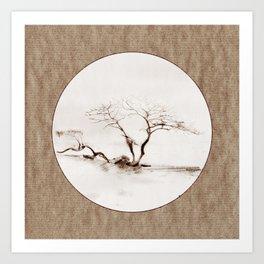 Scots Pine Paper Bag Sepia Art Print