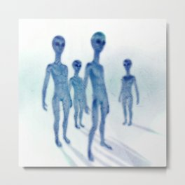 Blue Aliens by Raphael Terra Metal Print