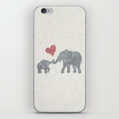 Elephant Hugs iPhone & iPod Skin