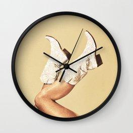 These Boots - Glitter & Tan Wall Clock