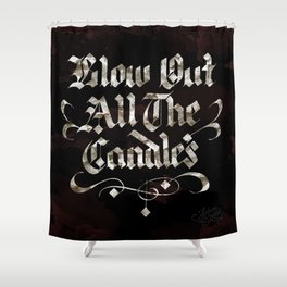 Candles Shower Curtain