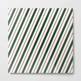 Peppermint Candy Cane Metal Print