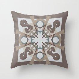Home Sweet Home Mandala - Brown Tan Throw Pillow