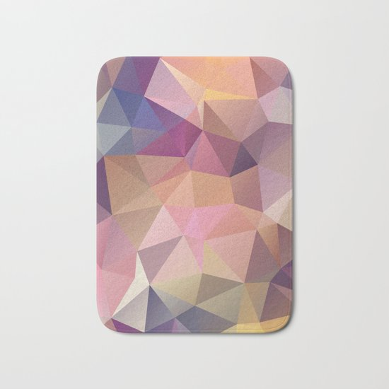 Abstract of triangles polygon in multicolor Bath Mat