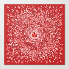 Poinsettia Mandala Canvas Print