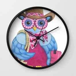 American Cowgirl Wall Clock