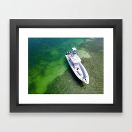 Grizzely in the Keys Framed Art Print
