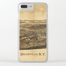 Aerial View of Dolgeville, New York (1890) Clear iPhone Case