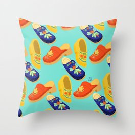 clogs Throw Pillow