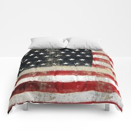 USA Flag ~ American Flag ~ Distressed Pattern ~ Ginkelmier Inspired Comforters