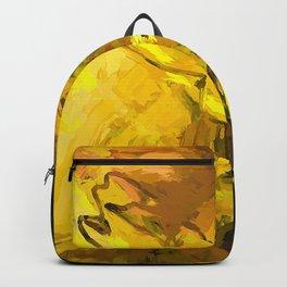 Yellow Lily Golden Light Flower Maelstrom Backpack