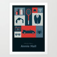 annie hall Art Prints featuring Annie Hall by Sherif Adel