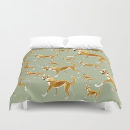 Ginger dingo pattern (c) 2017 Duvet Cover