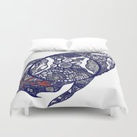 greg guillemin Duvet Covers featuring Abstract 2 by Greg Phillips by SquirrelSix