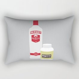 Vodka & Aspirin Rectangular Pillow