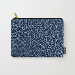Blue Fishnet Carry-All Pouch
