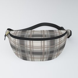Brown Plaid with tan, cream and gray Fanny Pack