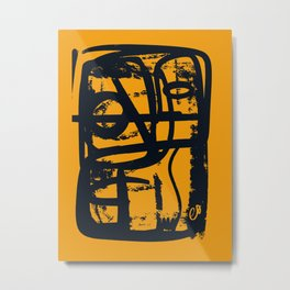 The Yellow Soul of Emilio V Abstract Art of Life by Emmanuel Signorino Metal Print