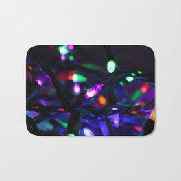 Colorful Christmas Lights Bath Mat
