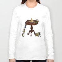cheese Long Sleeve T-shirts featuring Cheese by Anna Shell