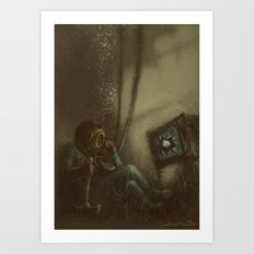 Trapped In A Box Art Print