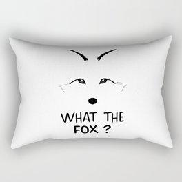 What the fox ? Rectangular Pillow