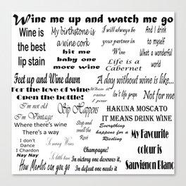 Wine Quotes Canvas Print