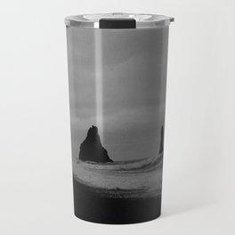 Sea Stacks BW Travel Mug