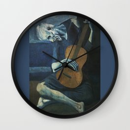 Pablo Picasso - The Old Guitarist Wall Clock