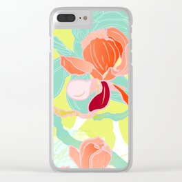 spring magnolia Clear iPhone Case