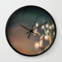 lanterns Wall Clocks featuring Lanterns by Claire Westwood illustration