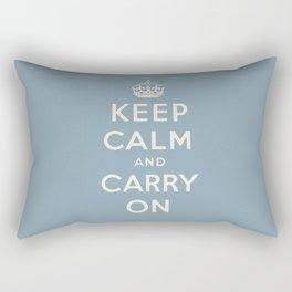 keep calm and carry on Rectangular Pillow
