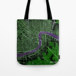 New Orleans Louisiana 1932 vintage old beautiful map Tote Bag